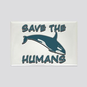 Save the Humans Rectangle Magnet