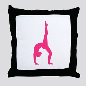 Rhythmic Gymnastics Throw Pillow