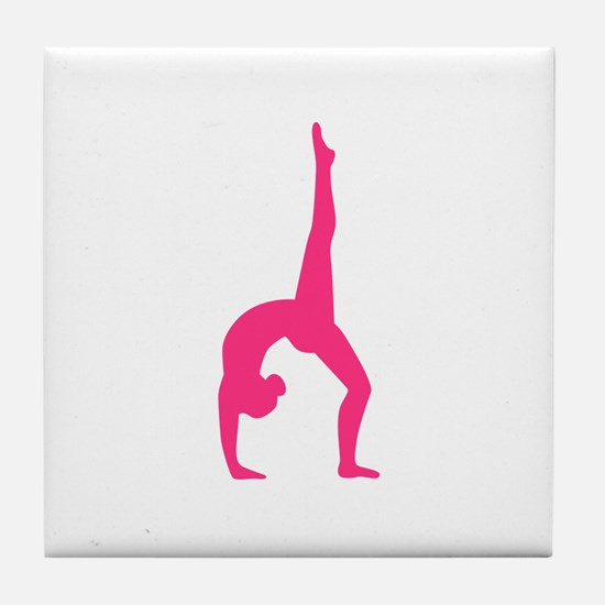 Rhythmic Gymnastics Tile Coaster