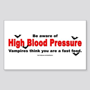 High Blood Pressure Rectangle Sticker