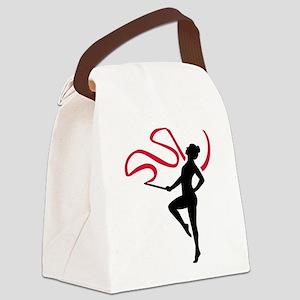 Rhythmic gymnast Canvas Lunch Bag