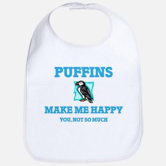 Puffins Make Me Happy Baby Bib