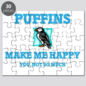 Puffins Make Me Happy Puzzle