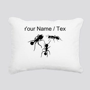 Custom Ants Rectangular Canvas Pillow