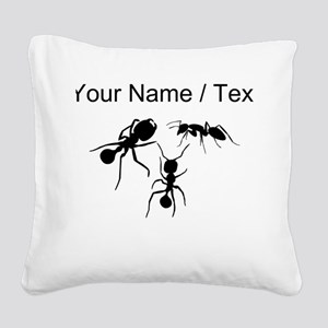 Custom Ants Square Canvas Pillow