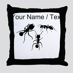 Custom Ants Throw Pillow