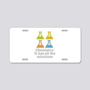 Chemistry Solutions Aluminum License Plate