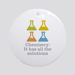 Chemistry Solutions Ornament (Round)