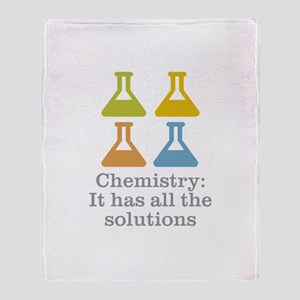 Chemistry Solutions Throw Blanket