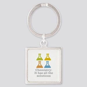 Chemistry Solutions Square Keychain