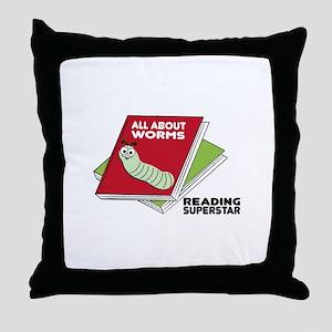 Reading Superstar Throw Pillow