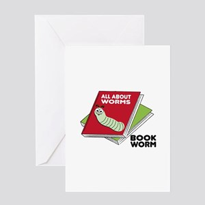 Book Worm Greeting Cards