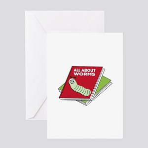 All About Worms Greeting Cards