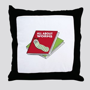 All About Worms Throw Pillow
