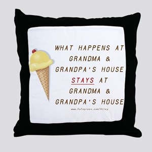 Grandma & Grandpa's Throw Pillow