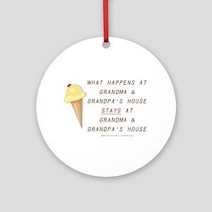 Grandma & Grandpa's Ornament (Round)