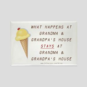 Grandma & Grandpa's Rectangle Magnet