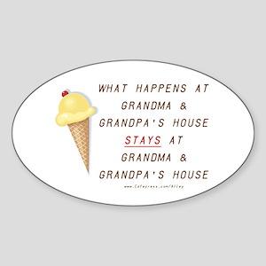 Grandma & Grandpa's Oval Sticker