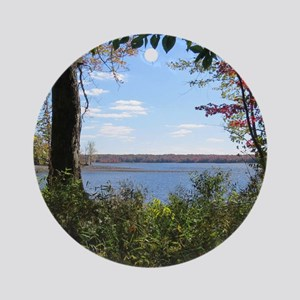 Reservoir Nature Scenery Ornament (Round)
