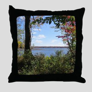 Reservoir Nature Scenery Throw Pillow