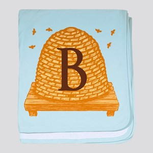 MONOGRAM Bee Hive baby blanket