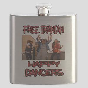 FREE HAPPY DANCERS Flask