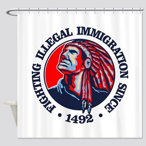 Native American (Illegal Immigration) Shower Curta