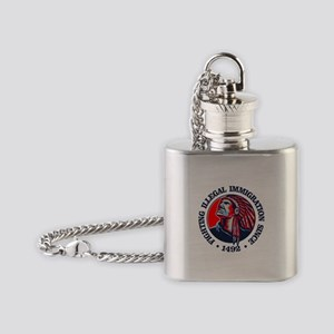 Native American (Illegal Immigration) Flask Neckla