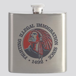 Native American (Illegal Immigration) Flask
