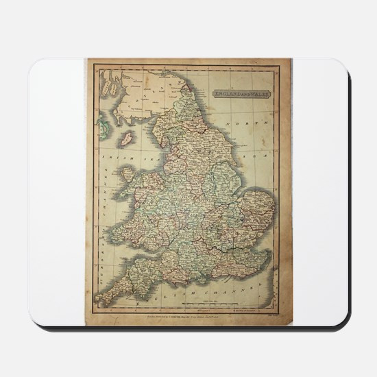 1808 Map of England and wales Mousepad