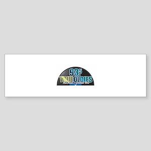 93.5 True Oldies Logo Bumper Sticker