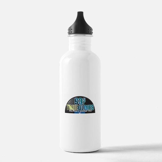 93.5 True Oldies Logo Water Bottle