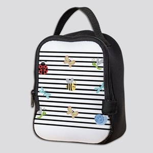 Buggles and Stripes Neoprene Lunch Bag