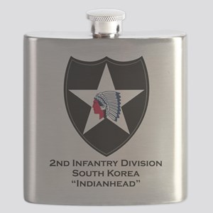 2nd Infantry Indianhead Flask