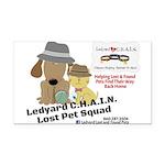 Lost Pet Squad Rectangle Car Magnet