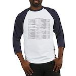 Emacs Reference T-shirt (Baseball Jersey)