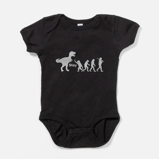 T Rex Stay Baby Bodysuit