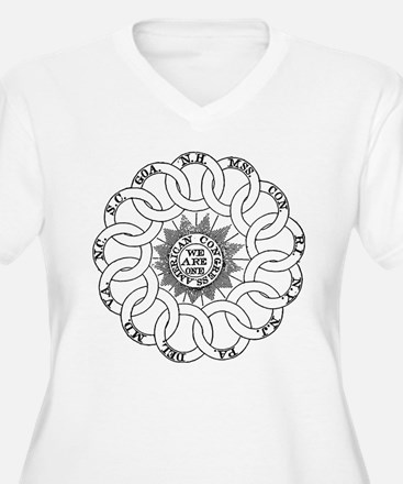 Continental Rings Plus Size T-Shirt