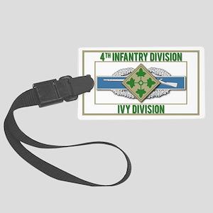4th ID Ivy Division CIB Large Luggage Tag