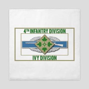 4th ID Ivy Division CIB Queen Duvet