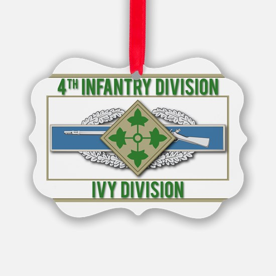4th ID Ivy Division CIB Ornament