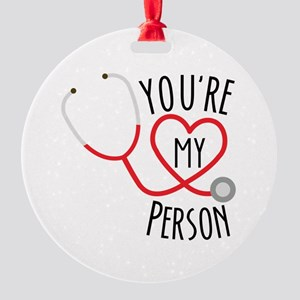 Grey's Anatomy You're My Person Round Ornament