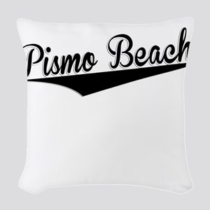 Pismo Beach, Retro, Woven Throw Pillow