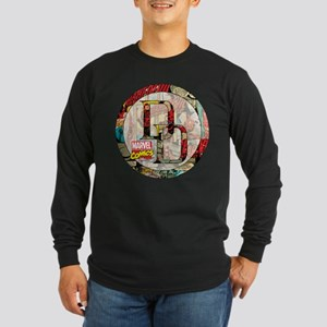 Daredevil Collage Long Sleeve Dark T-Shirt
