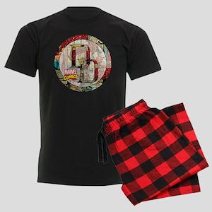 Daredevil Collage Men's Dark Pajamas