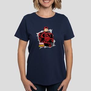 Daredevil Ripped Women's Dark T-Shirt
