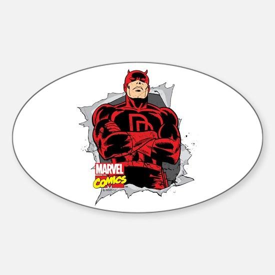 Daredevil Ripped Sticker (Oval)