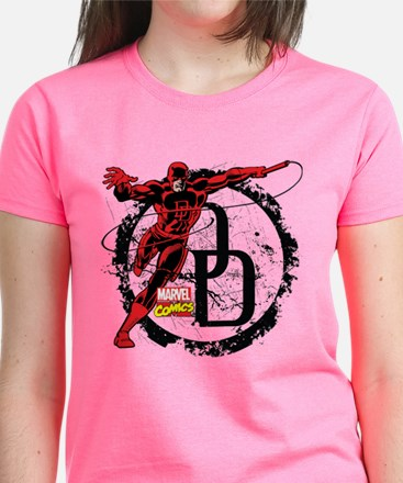 Daredevil Action Pose Women's Dark T-Shirt