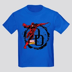 Daredevil Action Pose Kids Dark T-Shirt