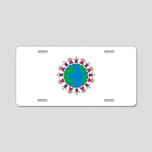 World Peace Children Aluminum License Plate